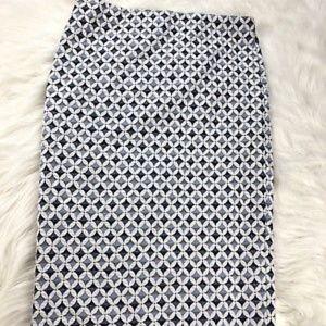 ZARA Blue Textured Multi Bodycon Stretch Skirt